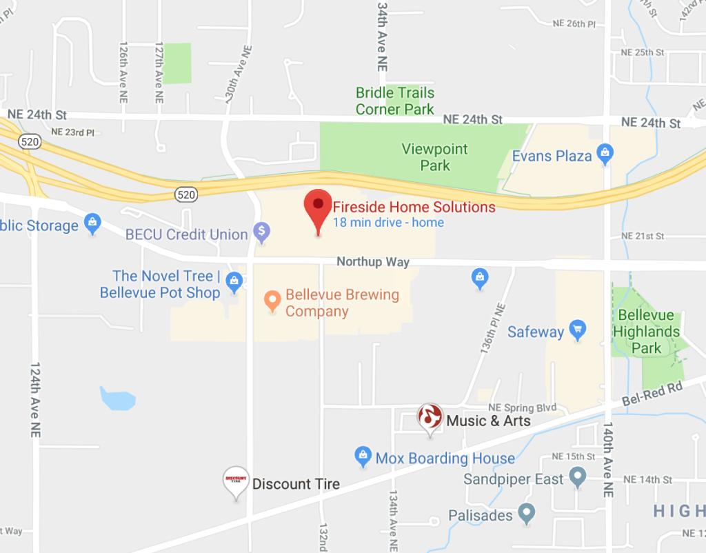 bellevue showroom map